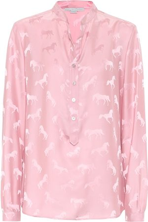 Stella McCartney Horse-jacquard blouse