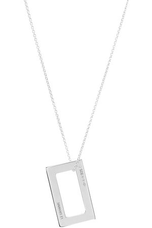 Le Gramme Medium Rectangle Pendant Necklace