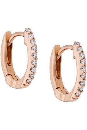 Dana Rebecca Designs Diamond and 14kt rose DRD huggies