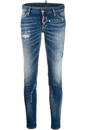 Dsquared2 Paint splattered skinny jeans