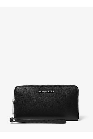 Michael Kors Women Clutches - MK Large Crossgrain Leather Smartphone Wristlet - - Michael Kors