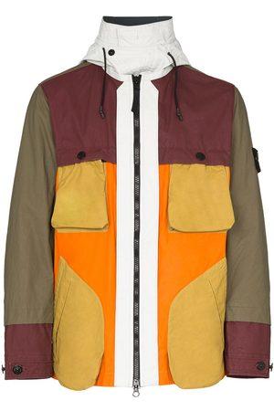 Stone Island Panelled zip-front jacket
