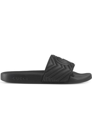 Gucci Men's matelassé rubber slide
