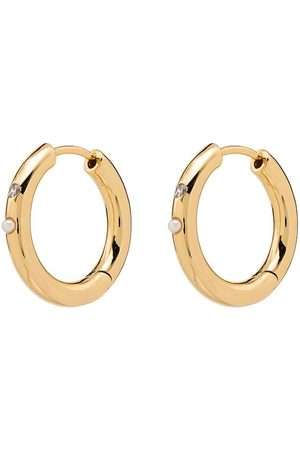 Anni Lu Women Earrings - 18kt -plated Brigitte pearl hoop earrings