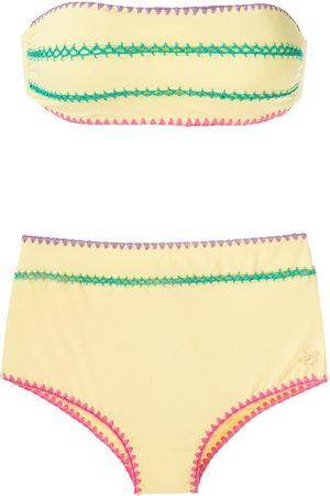 Brigitte Manu e Fran crochet trim bikini set