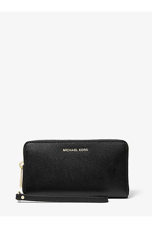 Michael Kors Women Handbags - Large Crossgrain Leather Smartphone Wristlet