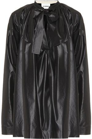 Jil Sander Coated tie-neck blouse