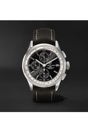 Breitling Men Watches - Premier Automatic Chronograph 42mm Stainless Steel and Nubuck Watch, Ref. No. A13315351B1X1