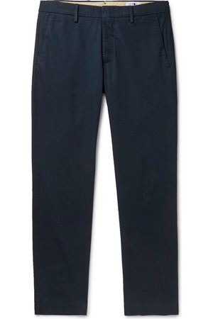 NN.07 Dark-grey Theo Tapered Cotton-blend Trousers