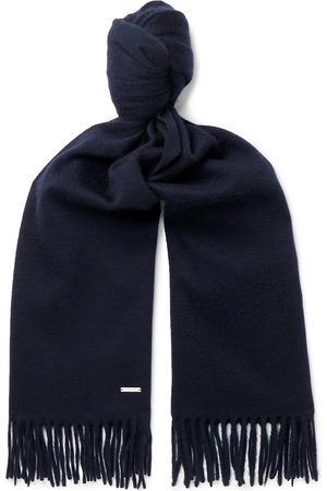 Loro Piana Men Scarves - Fringed Brushed-Cashmere Scarf