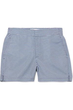 Frescobol Carioca Mid-length Printed Swim Shorts