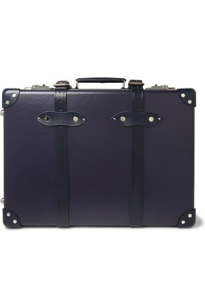 """Globetrotter 20"""" Leather-trimmed Carry-on Suitcase"""