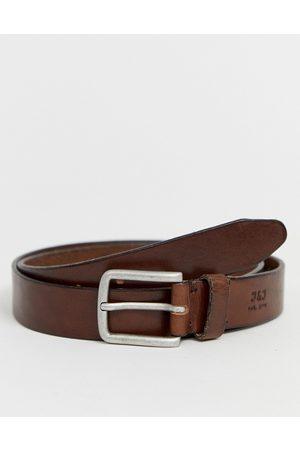 Jack & Jones leather belt in brown