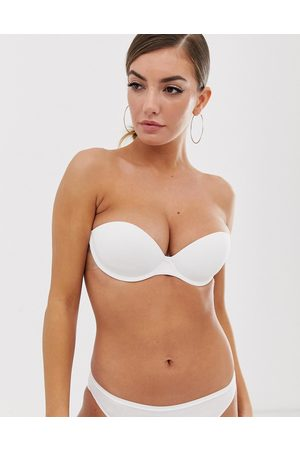 Fashion Forms Go bare backless strapless push up stick on bra-White