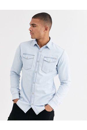Jack & Jones Essentials denim shirt in light blue