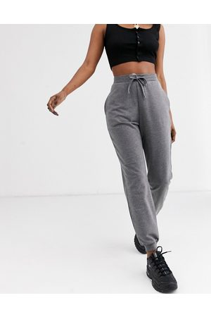 ASOS DESIGN basic jogger with tie-Grey