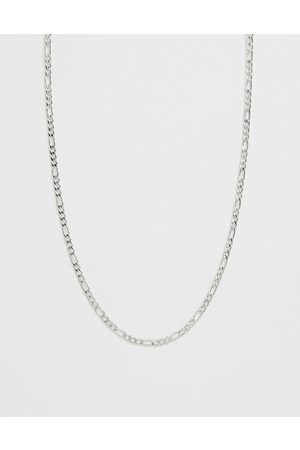 adidas 3mm figaro chain necklace in silver