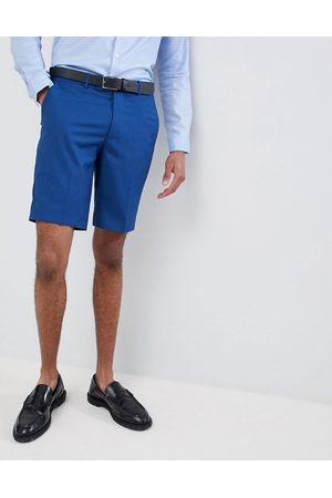 Farah skinny wedding suit shorts in blue