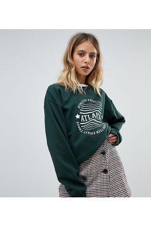 Daisy Street Atlanta sweatshirt-Green