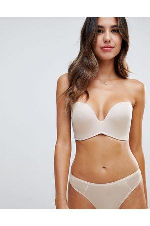 Wonderbra new ultimate strapless bra a - g cup-Beige
