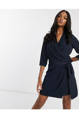 Vero Moda tie side dress-Navy