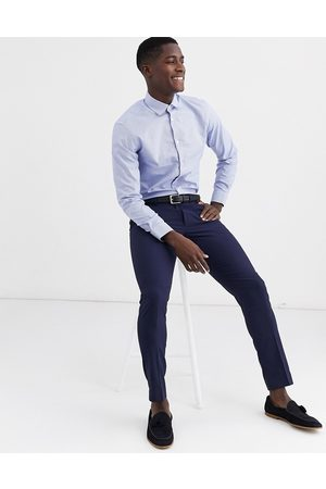 Selected Homme slim fit gingham shirt in blue
