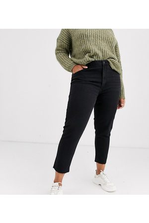 Only Curve straight leg jean in black