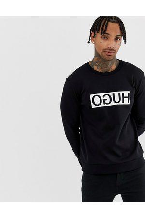 HUGO large logo sweat in black