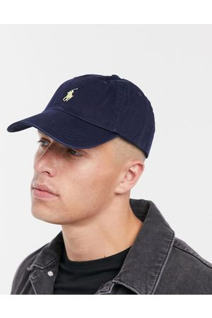 Polo Ralph Lauren baseball cap with white player logo in washed navy-Blue