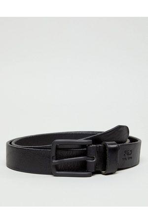 Jack & Jones leather belt in black