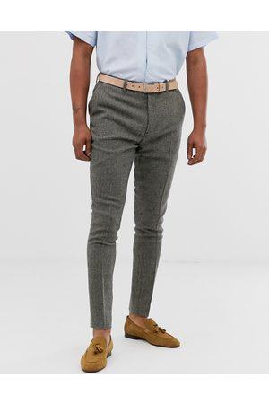 ASOS DESIGN super skinny smart pants in grey dog tooth
