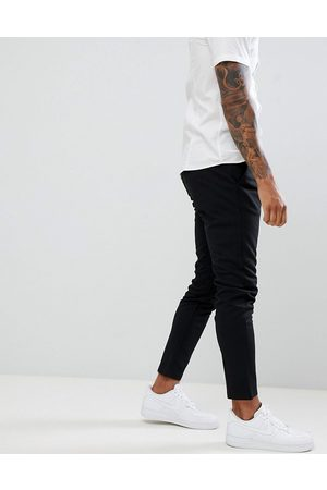 Only & Sons slim tapered fit pants in black