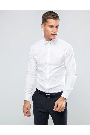 Selected Homme slim fit easy iron smart shirt in white