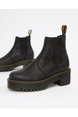 Dr. Martens Rometty Leather Heeled Chelsea Boots