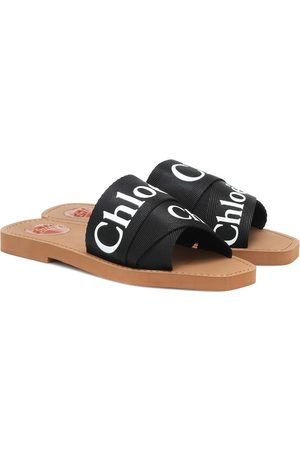 Chloé Woody canvas sandals
