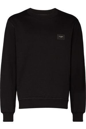 Dolce & Gabbana Men Sweatshirts - Logo plaque sweater