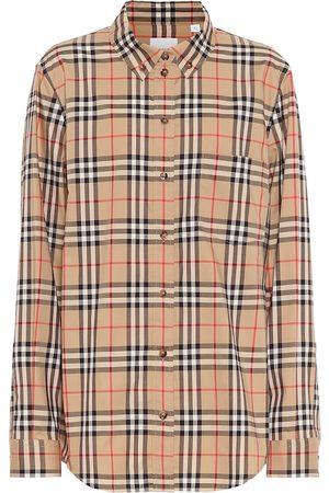 Burberry Shirts - Vintage Check stretch-cotton shirt
