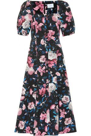 Erdem Mariona floral cotton-blend dress