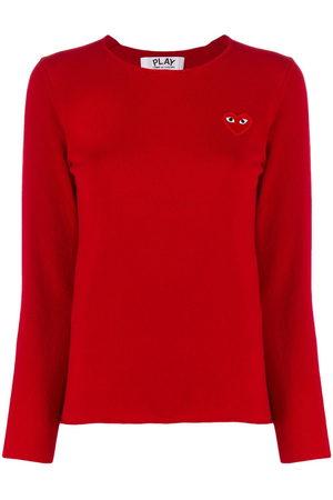 Comme des Garçons Women Sweaters - Chest logo jumper