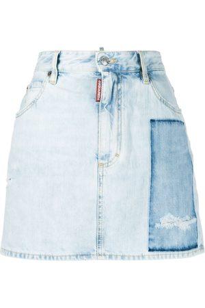 Dsquared2 Women Denim Skirts - Dalma patch denim skirt
