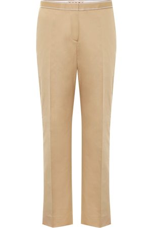 Marni Pants - Mid-rise cotton and linen pants