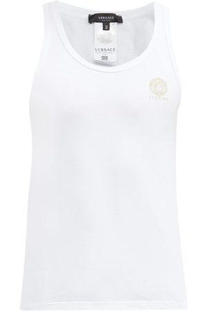 Versace Medusa-print Cotton-blend Vest - Mens