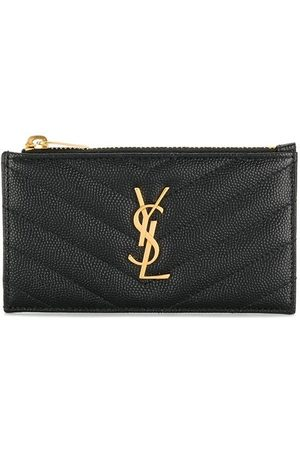 Saint Laurent Quilted Monogram card holder