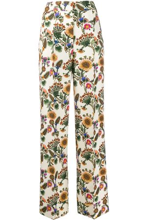 La DoubleJ Anna floral tailored trousers