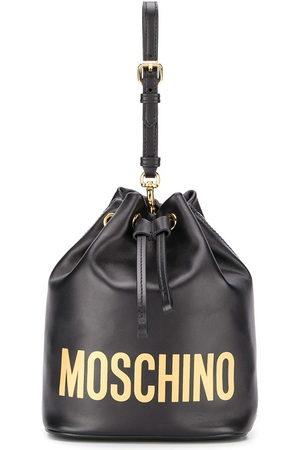Moschino Women Shoulder Bags - Logo-print bucket bag