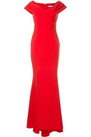 Safiyaa Madison off-the-shoulder gown
