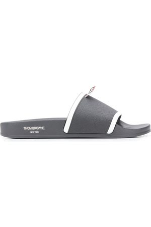 Thom Browne Men Thongs - Molded Rubber Pool Slides