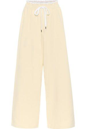 Marni Wide-leg cotton trackpants