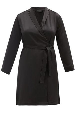 La Perla Belted Short Silk Robe - Womens