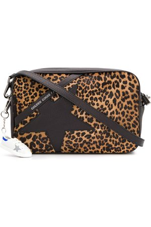 Golden Goose Leopard star cross-body bag